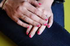 Pretty in Pink! DIY to an easy Valentines mani #silverjeans