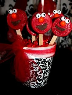 Red and Turquoise Elmo Party