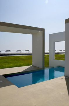 Beach front view at residential house in Las Arenas, Peru by Javier Artadi