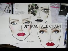 Thank you Julia Salvia!   DIY Printable MAC Face Charts! (Part One) Mac Face Charts, Makeup Face Charts, Eyelashes Tutorial, Face Blender, Beauty Blender How To Use, Best Face Products, Makeup Cosmetics, Art Images, Eye Makeup