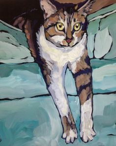 Kitsch, Cat Drawing, Animal Paintings, Pet Portraits, Cat Art, Love Art, Art Pictures, Pet Birds, Les Oeuvres