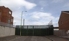Falls Road 'Peace wall' in Belfast.