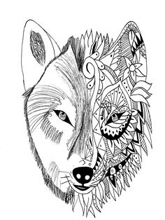 Printable Free Wolf Coloring Pages For Adults