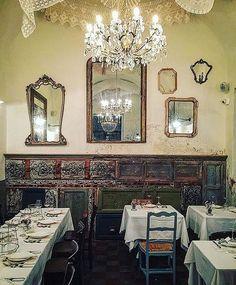 WEBSTA @ myrestaurants - Mè Cumpari Turiddu   Catania, Sicily Restaurant Design, Restaurant Bar, Catania Sicily, Vanity, Mirror, Instagram Posts, Lust, Furniture, Bakery