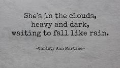 Short poem sayings quotes rain clouds imagery - written word - haiku by Christy Ann Martine #haiku #rain #clouds