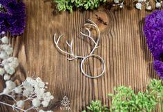 Twiggi Light  ring with deer antler by VitaKurasheva on Etsy