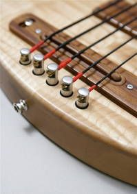 acoustic-bridge with Schertler Bluestick Pickup and adjustabable single tailpieces
