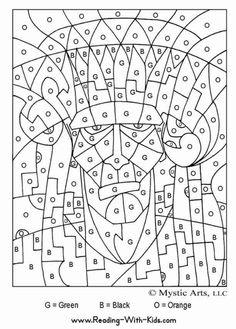 Coloriages magiques, par chiffre et lettre | La cabane à idées