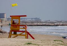 Yellow Flag Rough Seas - Galveston, Texas