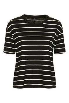 PETITE Stripe Tie Back T-shirt