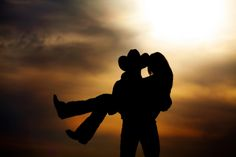 Silhouette Cowboy and Cowgirl Romantic - Bing images