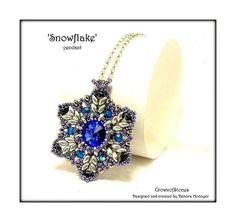 Bead Pattern pendant 'Snowflake' Christmas by CrownofStones