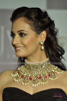 Dia Mirza walks for Golecha's Jewels