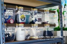 A bowl full of lemons.: Home Organization 101 Week #2: HOW TO ORGANIZE THE GARAGE.