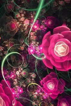 Flower Fractals.....I've never heard of Fractal ART but it's so beautiful, I am intrigued.
