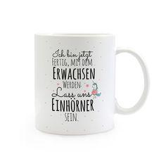 Becher & Tassen - Geschenk Kaffee Tasse Einhorn Spruch ts320 - ein Designerstück von IlkaParey bei DaWanda