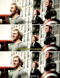 This is not so bad.-----I loved this part. I felt like he had a bright future ahead of him as part of the Avengers team. At least, that was BEFORE THEY SHOT HIM 47 TIMES IN THE CHEST