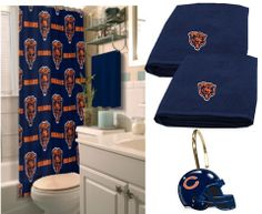 Use this Exclusive coupon code: PINFIVE to receive an additional 5% off the Chicago Bears Deluxe Bath Set only $92.20 at SportsFansPlus.com