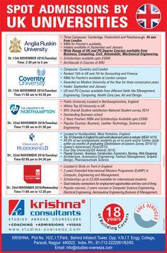 Spot Assessment by Top UK Universities at Krishna Consultants #Nagpur.