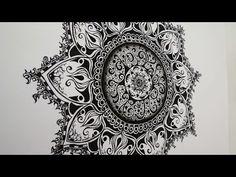 ▶ Zentangle Zeichnung #4 * Zeitraffer - YouTube