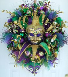 Another Mardi Gras wreath
