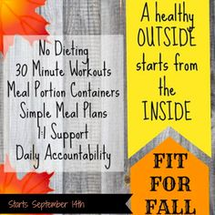 """""""Fall into Fitness"""" Challenge Group!!! — The Fit Teacher                                                                                                                                                                                 More"""
