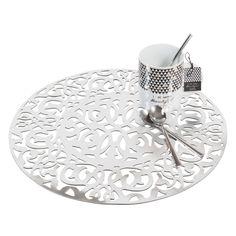 Set de table ajouré rond argent D 38 cm LASALLE | Maisons du Monde