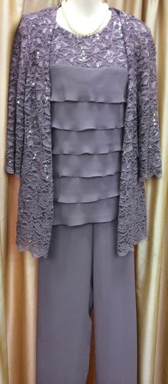 Cheap Mother of the Bride Dresses, Buy Directly from China Suppliers:3 Piece Dusty Pink Chiffon Mother of the Bride Lace Pant Suits Plus Size Dress with Jacket 2014 New Arrival ************