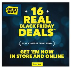 16 Best Buy Black Friday Deals available NOW - http://www.couponsforyourfamily.com/16-best-buy-black-friday-deals-available-now/