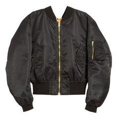 Vetements Nylon Bomber Jacket ($1,620) ❤ liked on Polyvore featuring outerwear, jackets, vetements, nylon jacket, blouson jacket, long sleeve jacket, lightweight zip jacket and shiny nylon jacket