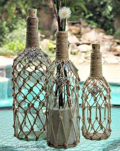 decorar con botellas de vidrio 19