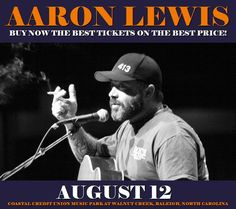 Aaron Lewis in Raleigh at Coastal Credit Union Music Park at Walnut Creek on August 12. More about this event here https://www.facebook.com/events/291168817974754/