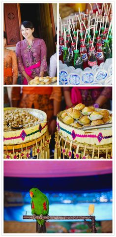 Bali wedding via 100 LAYER CAKE... i justo love the colors of the last picture.