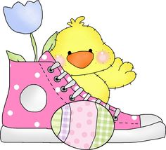 EASTER CHICK AND SHOE
