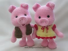 32 Ideas Crochet Doll Clothes Free Pattern Amigurumi Link For 2019 Chat Crochet, Crochet Mignon, Crochet Pig, Crochet Animal Amigurumi, Crochet Gratis, Amigurumi Patterns, Crochet Animals, Crochet Dolls, Free Crochet