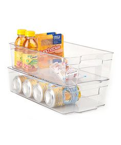 Look what I found on #zulily! 13'' x 9'' Clear Refrigerator Organizer - Set of Two #zulilyfinds