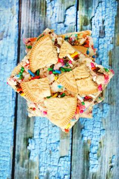 Funfetti Oreo rice krispie treats