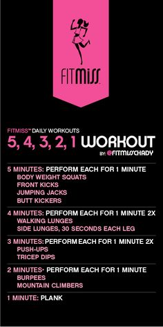 FitMiss 5, 4, 3, 2, 1 Workout intense full body