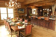 tour of interior cabin dining room