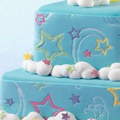 How to decorate your cake using a Fondant Imprint Mat.