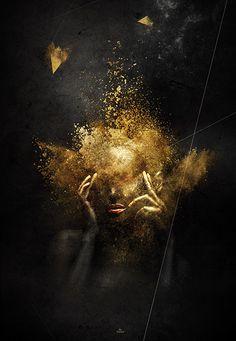 """Tableau / poster / affiche """"golden-diva"""" by """"Latiber"""". Edition limitée à 200 exemplaires."""