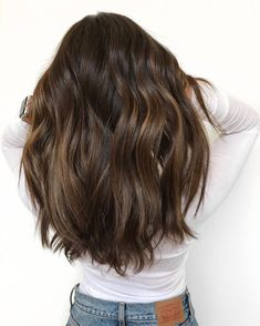 Black Coffee Hair With Ombre Highlights - 10 Cool Ideas of Coffee Brown Hair Color - The Trending Hairstyle Brown Hair Balayage, Brown Blonde Hair, Light Brown Hair, Brunette Hair, Hair Highlights, Coffee Brown Hair, Chocolate Brown Hair, Brown Hair Colors, Hair Colour