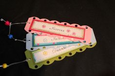 Set of 3 Inspirational Bookmarks by ladystamp on Etsy