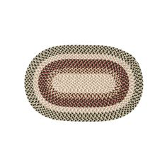 Shenandoah Braided Reversible Indoor Outdoor Rug, Green