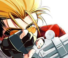 Vash the Stampede - Trigun - Image - Zerochan Anime Image Board Art Drawings Sketches, Cartoon Drawings, Anime Cat, Manga Anime, Read Anime, Manga Rock, Anime Fight, Vash, Anime Love