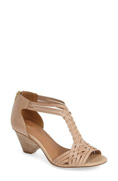 Clarks® 'Ranae Monique' Leather Stacked Heel Sandal (Women) available at #Nordstrom