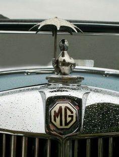 MG - Morris Garages***Research for possible future project. Car Badges, Car Logos, Vintage Cars, Antique Cars, Retro Cars, Car Bonnet, Automobile, Car Hood Ornaments, Radiator Cap