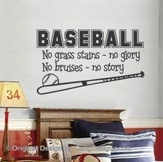 Baseball Sports Vinyl Wall Decal Sport Decals por Studio378Decals