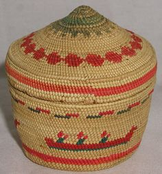 Nootka/Makah Miniature Basket by Frances Williams