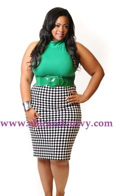 New Plus Size Shorts Black and White Houndstooth Print 1X 2X 3X